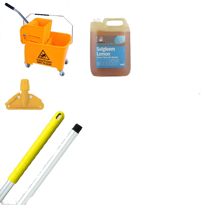 Kentucky Mop Bucket And Wringer Kit Yellow Ideal 365