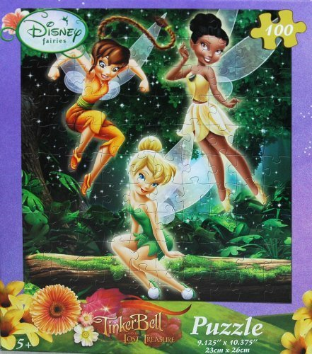 Disney Fairies Tinkerbell 100-Piece Jigsaw Puzzle (Spring in the Forest)