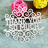 Cutting Dies for Card Making, Winkey Flower Christmas Party Metal Cutting Dies Stencils for DIY Scrapbooking Photo Album Paper Card Gift, Embossing Cutting Dies for Machine (Thank You Cutting Dies)