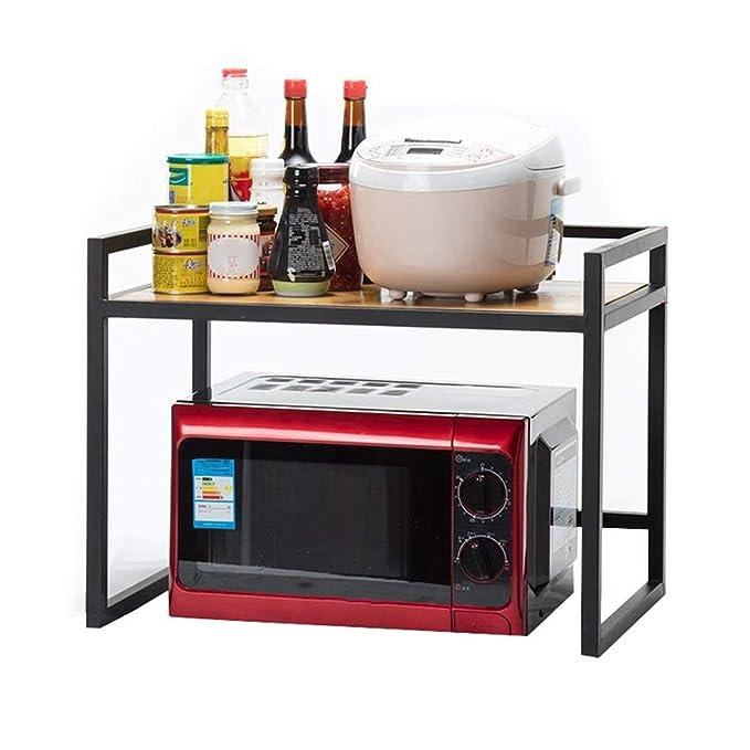 DUDDP Cocina estanterías Cocina Microondas Horno Rejilla/Estante 2 ...