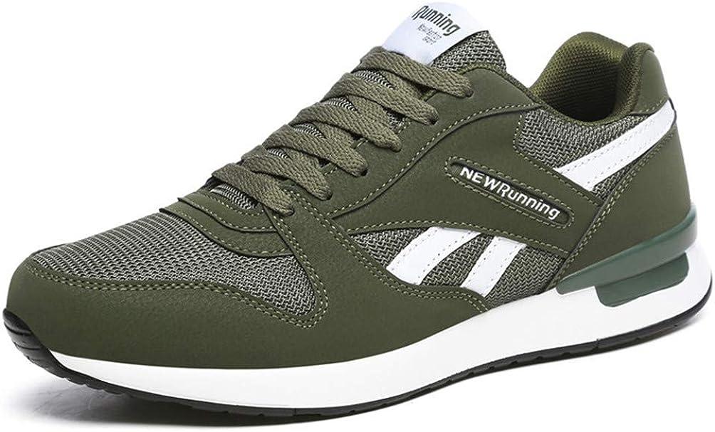 Zapatos para Correr con Cordones de Malla Transpirable a la Moda para Mujer cómodos Informales Ligeros Antideslizantes para Atletismo Zapatillas de Deporte de Fondo Suave para Mujer