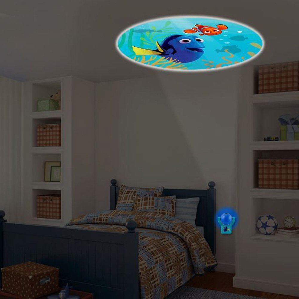 Disney Pixar Finding Dory LED projectables Plugin Night Light - An image of Nemo & Dory Project out of Night Light