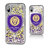 Keyscaper Orlando City Soccer Club Confetti iPhone X Gold Glitter Case MLS