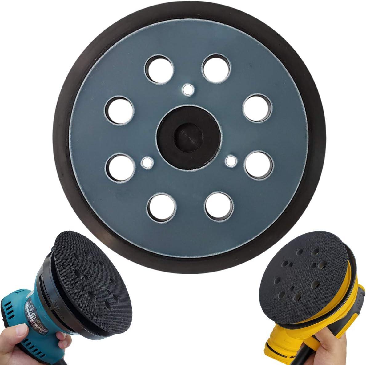 """5"""" Hook & Loop Replacement Sander Pad for DeWalt & Makita - Fit DW420/K, DW421/K, DW422/K, DW423/K, DW426/K, D26450, D26451/K, D26453/K, D26456, Makita BO5010/K, BO5030/K, BO5031/K, BO5041/K"""
