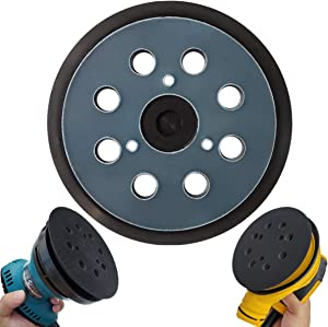 "5"" Hook & Loop Replacement Sander Pad for DeWalt & Makita - Fit DW420/K, DW421/K, DW422/K, DW423/K, DW426/K, D26450, D26451/K, D26453/K, D26456, Makita BO5010/K, BO5030/K, BO5031/K, BO5041/K"