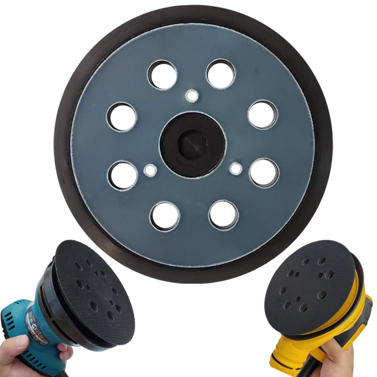 """5"""" Hook & Loop Replacement Sander Pad for DeWalt & Makita - Fit DW420/K, DW421/K, DW422/K, DW423/K, DW426/K, D26450, D26451/K, D26453/K, D26456, Makita BO5010/K, BO5030/K, BO5031/K, BO5041/K 61a6fHgVVNL"""