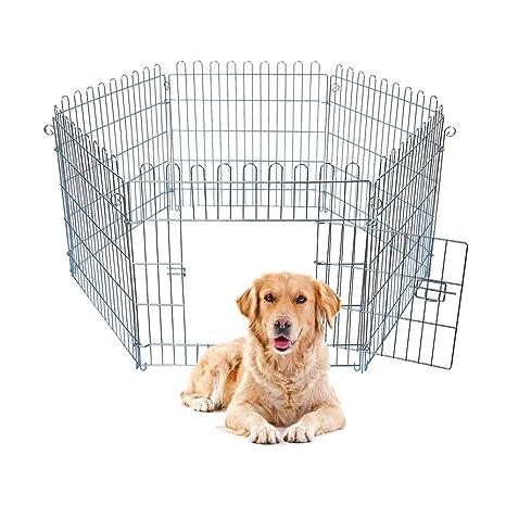 E-starain Jaula Parque Corral Plegable para Perros Gatos Conejo Mascotas Animales para Juego Entrenamiento