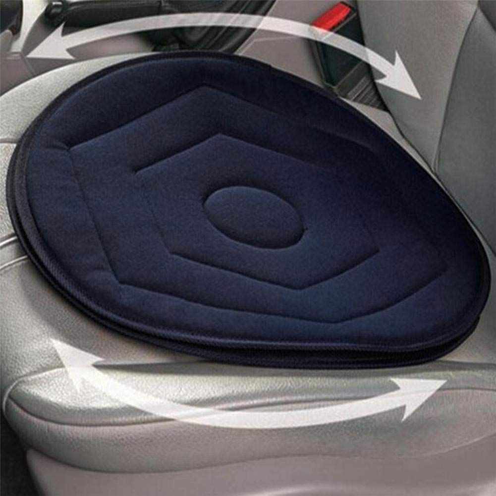 Lucky-all star Non-slip Car Seat Cushion, Revolving Memory Foam Mobility Aid Seat Cushion Soft Chair Pad