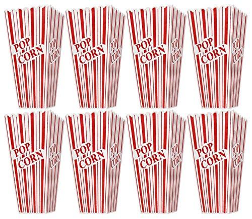 Set of 8 Popcorn Plastic Container Box Tub Bowl - Presentation is Everything (Tub Plastic Set)