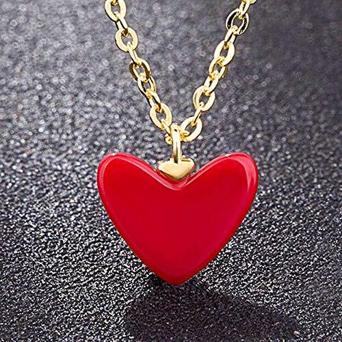 (Fashion Charm Heart Shape Choker Chain Necklace Pendant Jewelry)