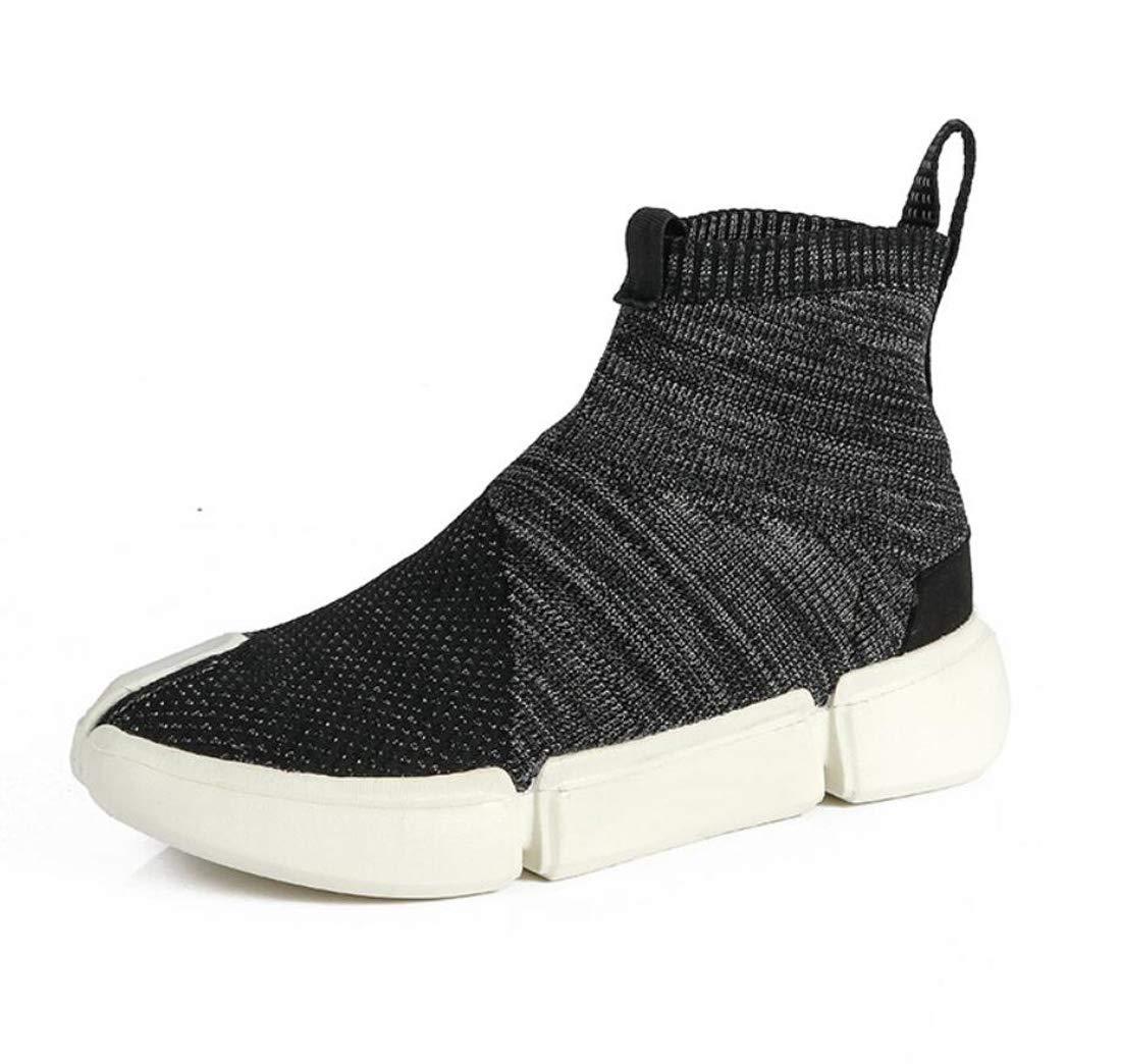 DANDANJIE scarpe da ginnastica Donna Casual High-Top Scarpe Leggero Traspirante Stretch Calze Scarpe,nero,36EU