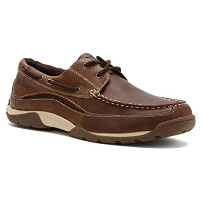 5fd2dc5cdf7 Vionic Eddy Mens Leather Boat-Shoe Brown - 7