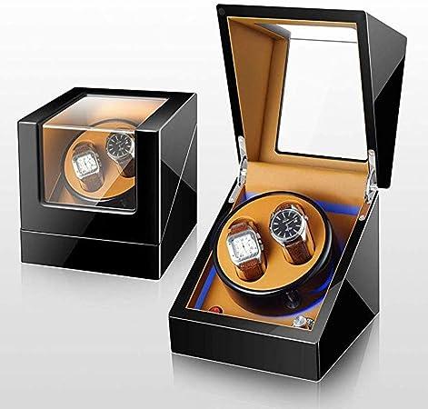 DKZK Caja para Relojes Automáticos - 2 Correa de enrollador de Reloj automático Cuero de PU 5 Modos de rotación Caja de Estuche de exhibición de Almacenamiento de Relojes (Negro): Amazon.es: Hogar