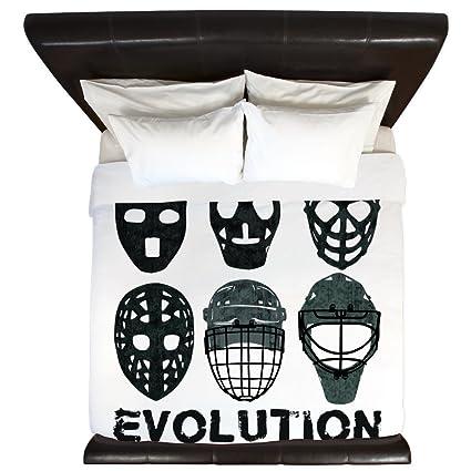Amazon Com Cafepress Hockey Goalie Mask Evolution King Duvet Cover