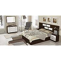 Muebles Baratos Dormitorio Matrimonio Completo, Subida A Domicilio, Cabecero, 2 mesitas, Espejo