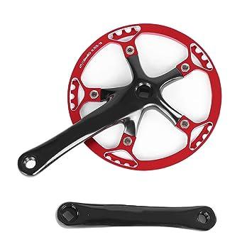 Tbest Juego de bielas de Bicicleta Juego de bielas de aleaci/ón de Aluminio Izquierda y Derecha Juego de bielas de Bicicleta de monta/ña Accesorios de Bicicleta 170 mm