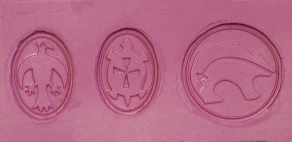 Fleximold Silicon Mold, Bear, Turtle, and Raven Mold Bear and Raven Mold Art Clay World USA Inc.
