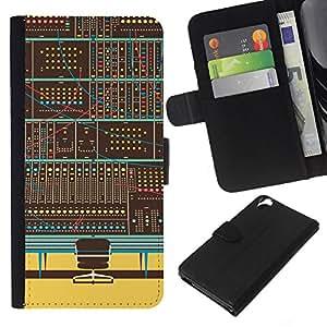NEECELL GIFT forCITY // Billetera de cuero Caso Cubierta de protección Carcasa / Leather Wallet Case for HTC Desire 820 // Panel de control digital