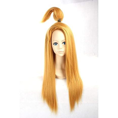 HOOLAZA Rubia peluca larga recta Naruto Deidara para la ...