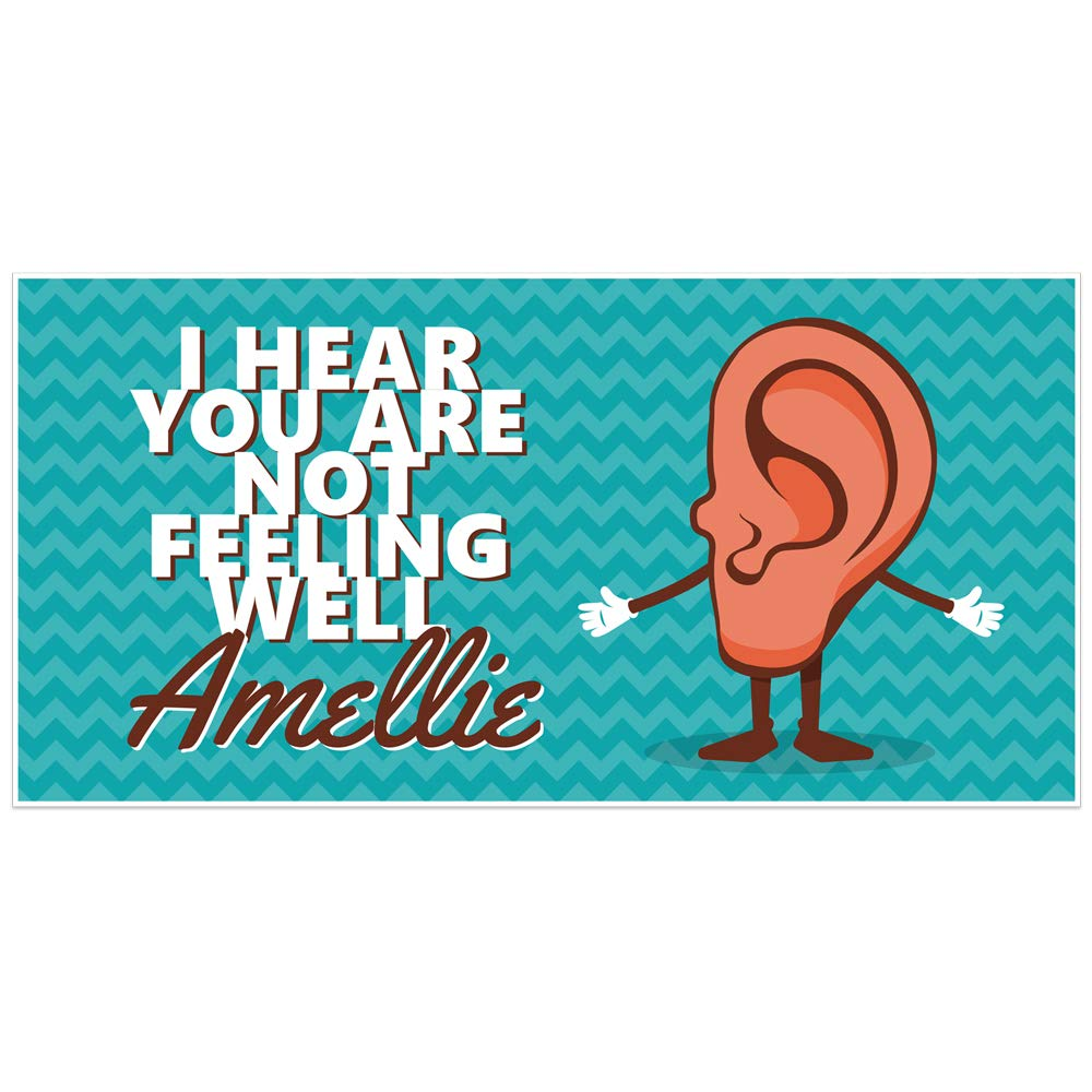 Get Well Soon Ear Pun Personalized Banner Party Decoration