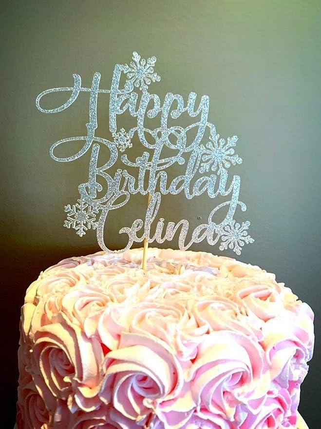 Decoración para tarta de cumpleaños con copo de nieve y copo ...
