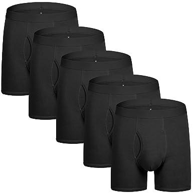 5Mayi Men s Underwear Boxer Briefs Cotton Regular Long Mens Boxer Briefs  Underwear Men Pack S M L XL XXL 27db91b22ce2
