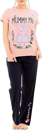 Peppa Pig Pijama para Mujer Mummy Pig