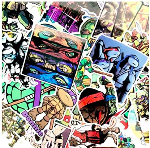 Teenage Mutant Ninja Turtles Computer Sticker Luggage Trolley Case Suitcase Sticker Waterproof No Sticky Car Sticker 50 Sheets