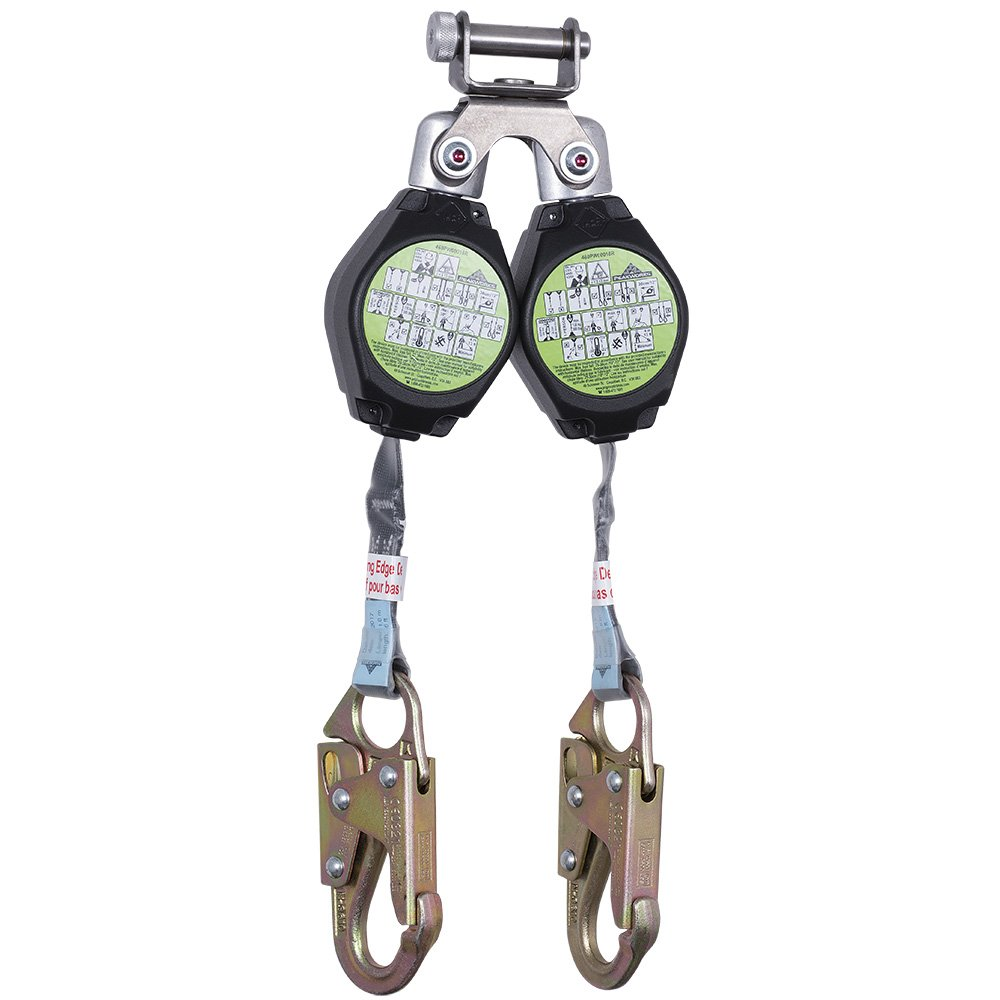 Fall Protection Leading Edge Standard Self-Retracting Lifeline 6 ft w//Webbing Peakworks V845523006LE Black//Green SRL