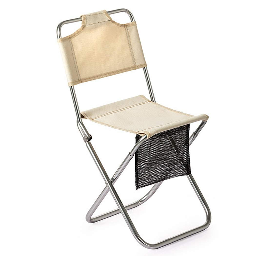 Folding Chair Portable Folding Chair Picnic Camping Wear-Resistant Aluminum Leisure Chair Back Fishing Chair Stool (Color : Gray, Size : 23.5cm)