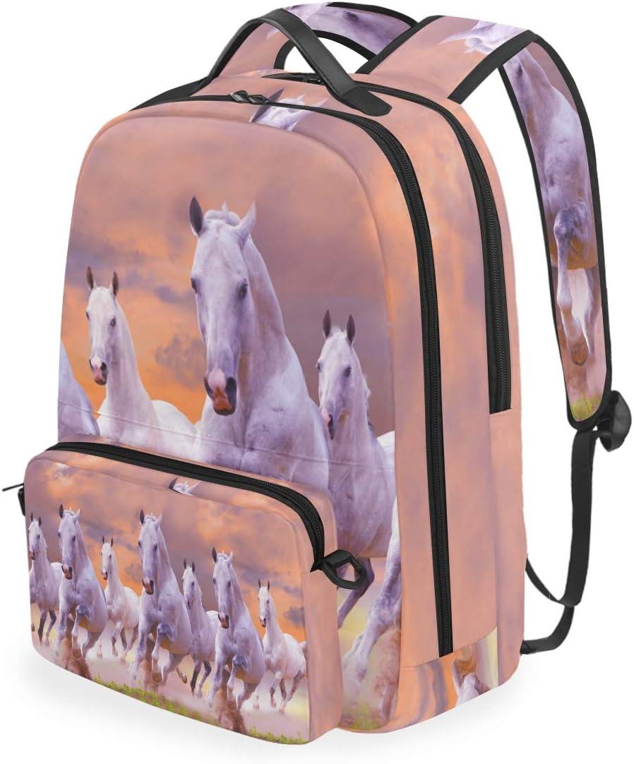CPYang Mochila Escolar para Correr o Hacer Caballos pintando con Hombros Desmontables, Bolsa Cruzada de Viaje, Mochila para portátil para niñas, niños, Mujeres y Hombres