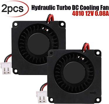 Innovateking-EU Ventilador de CC sin escobillas 2pcs 40 x 40 x 10 ...
