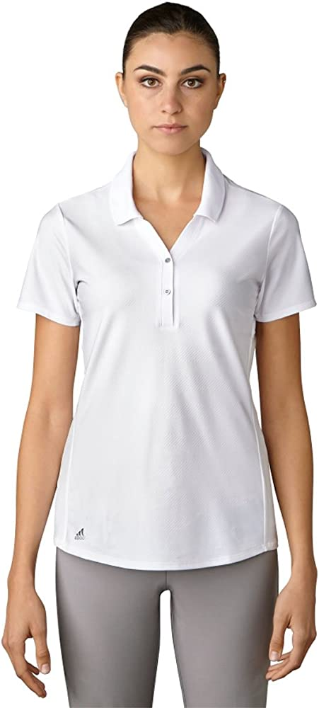 adidas Golf Mujer de Manga Corta Esencial Jacquard Polo Camiseta ...