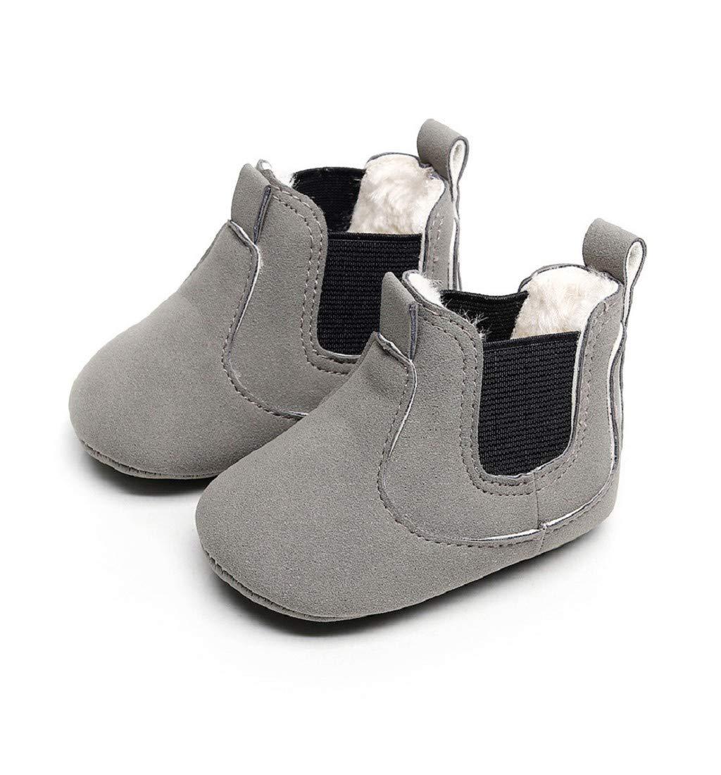 1af2673068988 Chaussures Bébé Binggong Chaussures Enfant en bas âge Nouveau-né Bébé  Garçons Fille Berceau Bottes D hiver Prewalker Chaud Martin Chaussures Pour  Bébé ...