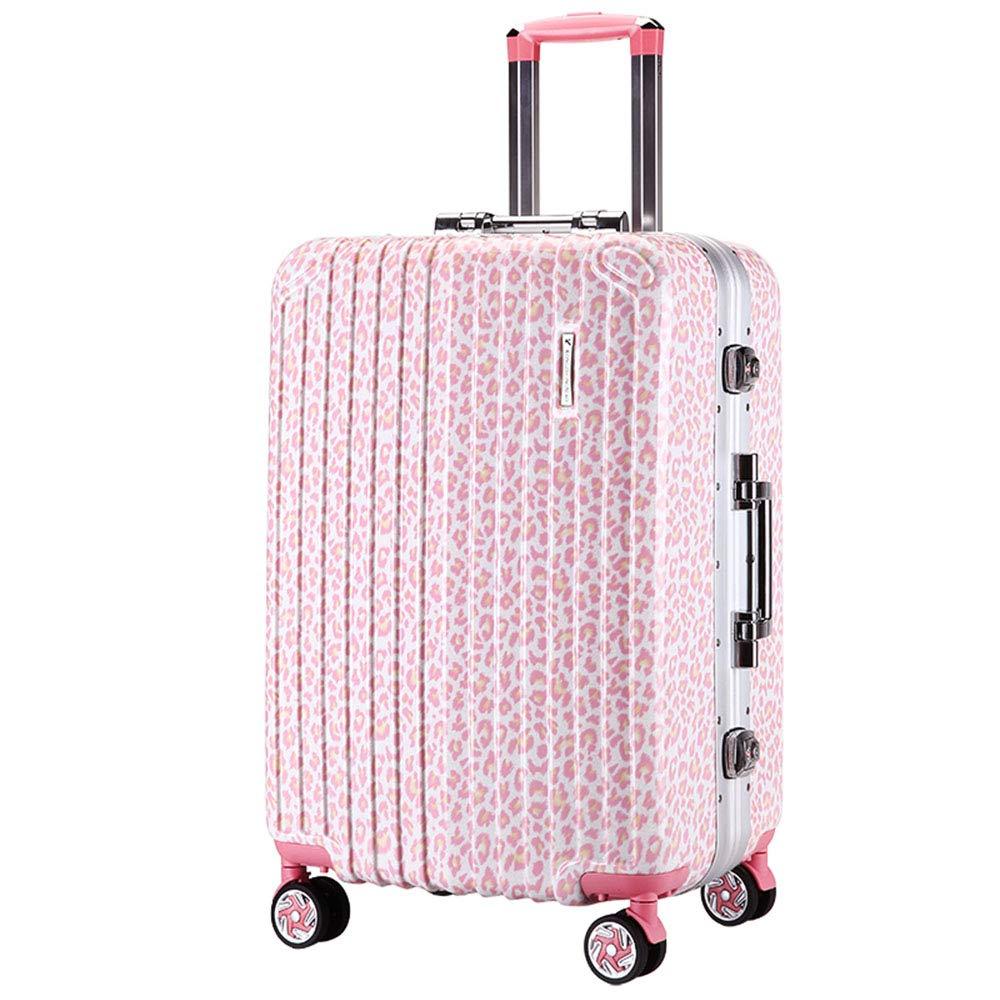 スピナーホイール付き女性ハードサイド荷物、旅行用軽量ジッパースーツケース、スーツケースに入れる20インチピンク B07TMDDFSC