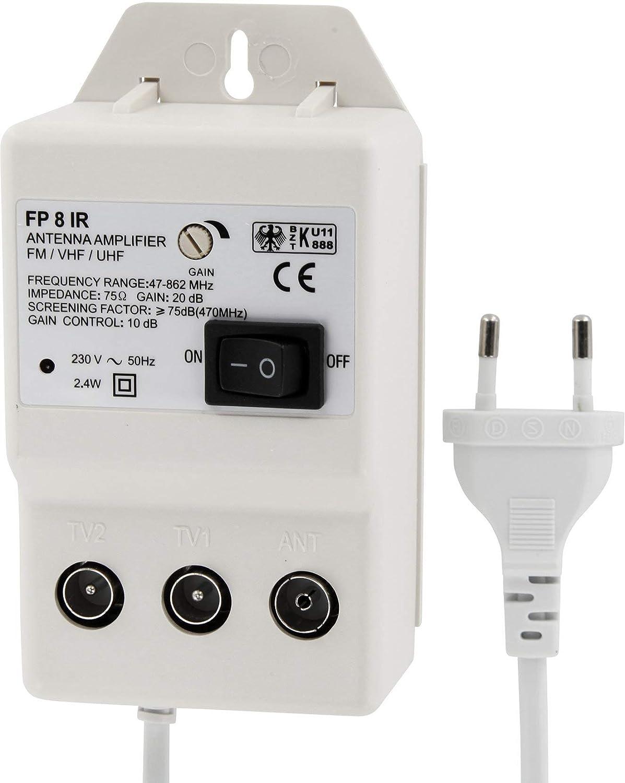 metronic 432187  HAVA Amplificatore per Antenna Digitale per 2 dispositivi:  ...