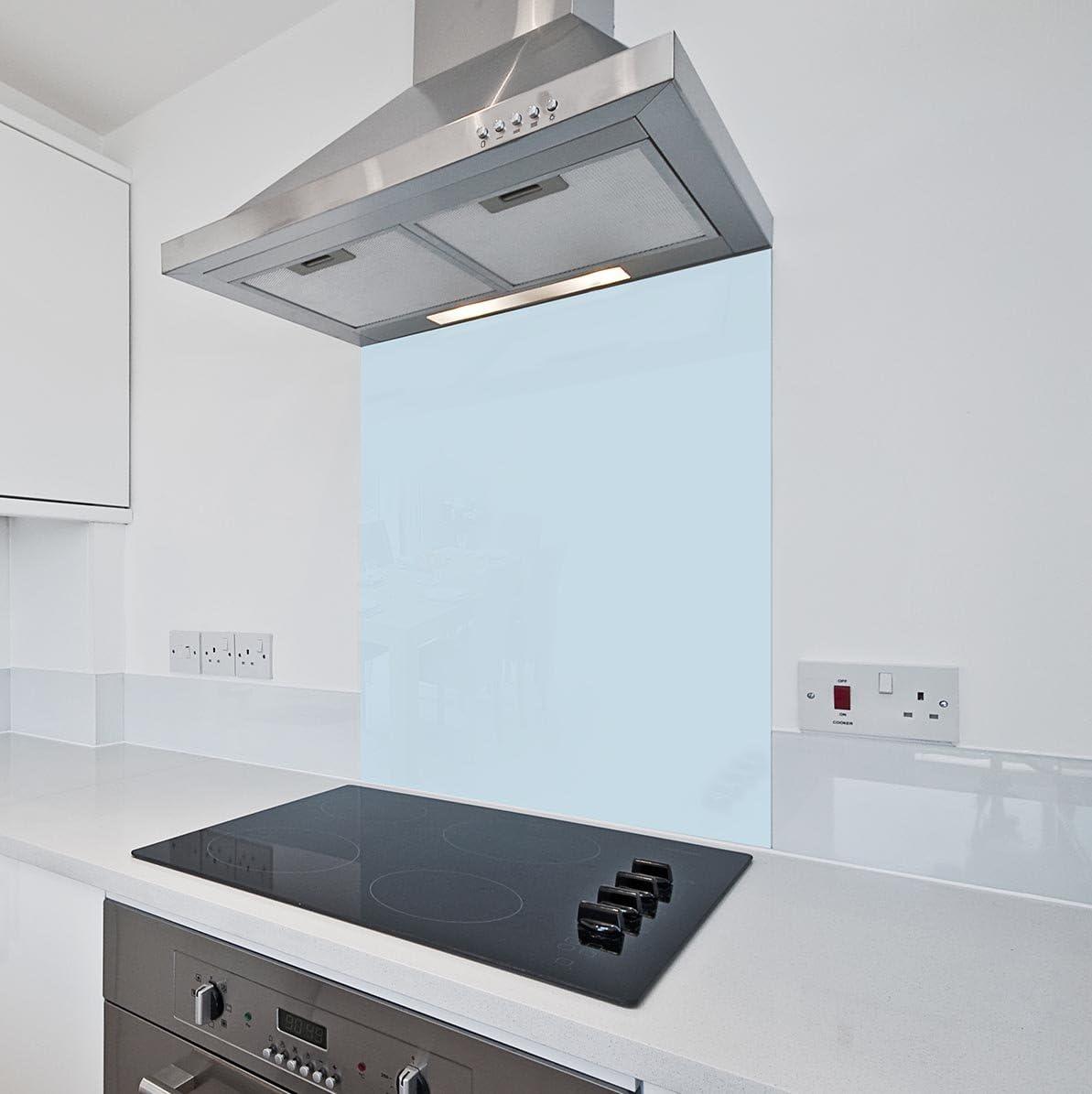 Luz azul cristal cocina Splashback por colour2glass – 6 mm de espesor resistente al calor vidrio de cocina templado Splashbacks 1100 x 750mm azul: Amazon.es: Hogar