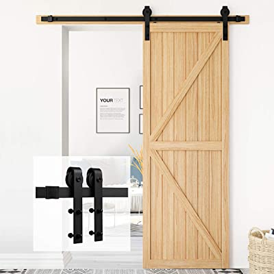 Homlux 5ft Heavy Duty Sturdy Sliding Barn Door Hardware Kit Single Door