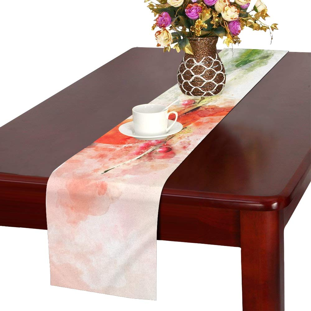 Desktop Splash Beautiful Art Color Abstract Bird Table Runner, Kitchen Dining Table Runner 16 X 72 Inch For Dinner Parties, Events, Decor
