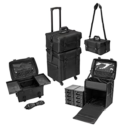 1a10883bc074 Amazon.com: Gati-way Makeup Rolling Travel Train Case 2-in-1 ...