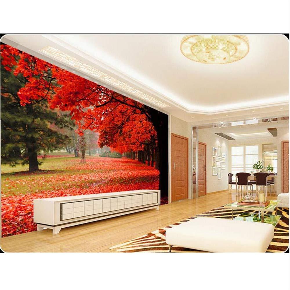 格安人気 3d壁紙 カスタムフォト壁紙 秋の風景の美しい紅葉 テレビ