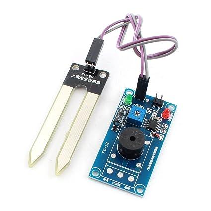 Sourcingmap a14073100ux0039 - Dc12v sensor de humedad humedad tierra controlar timbre de alarma del módulo