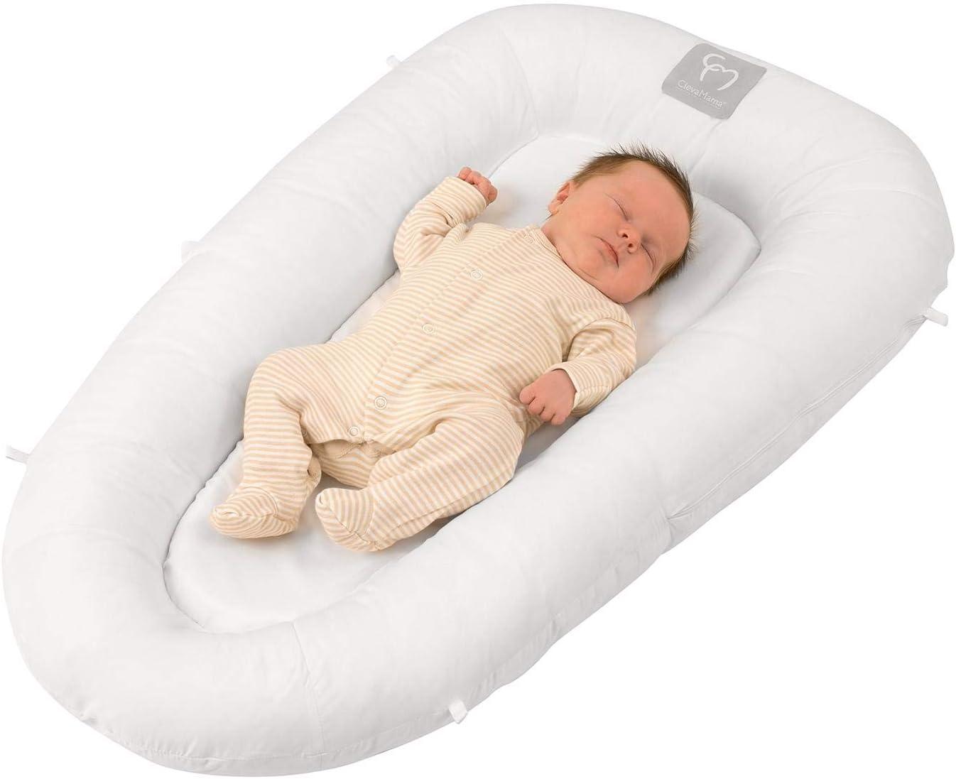 Clevamama - Reductor de Cama ClevaSleep - Nido para Bebés (0-6 meses) - Blanco