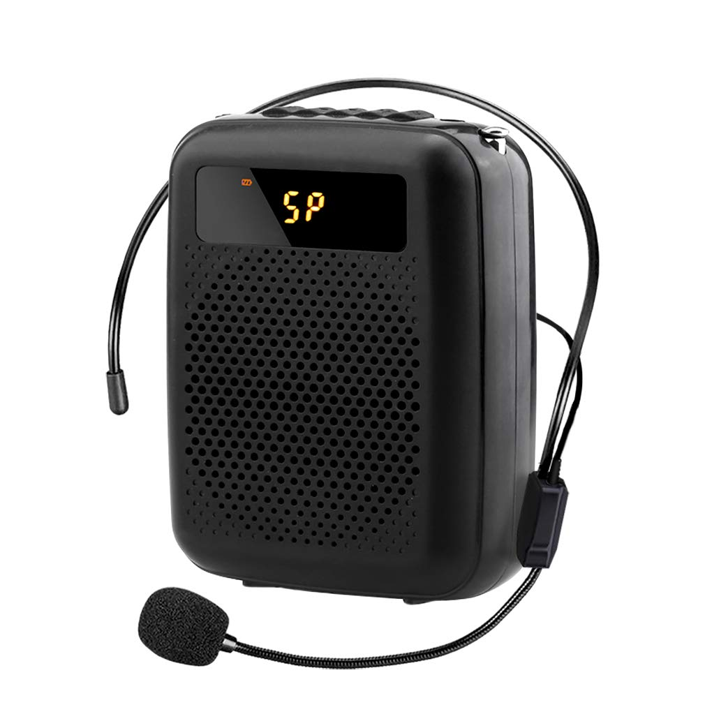 Voice Amplifier Portable FM Radio Wired Speaker Voice Amplifier for Teacher Shopping Guide The Aged Guide and So On Built-in Rechargeable Battery by Voice Amplifier
