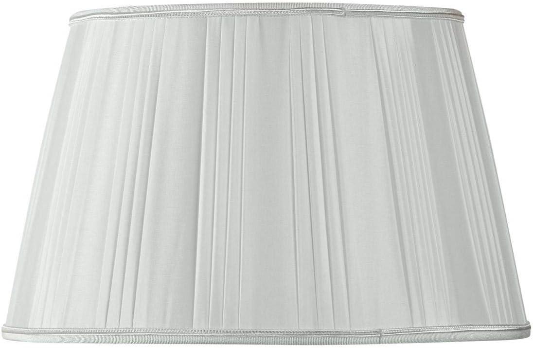 Pantalla para lámpara plisada forma tambor de diámetro 18 x 13 x 11 (plisada mano) gris perla: Amazon.es: Iluminación