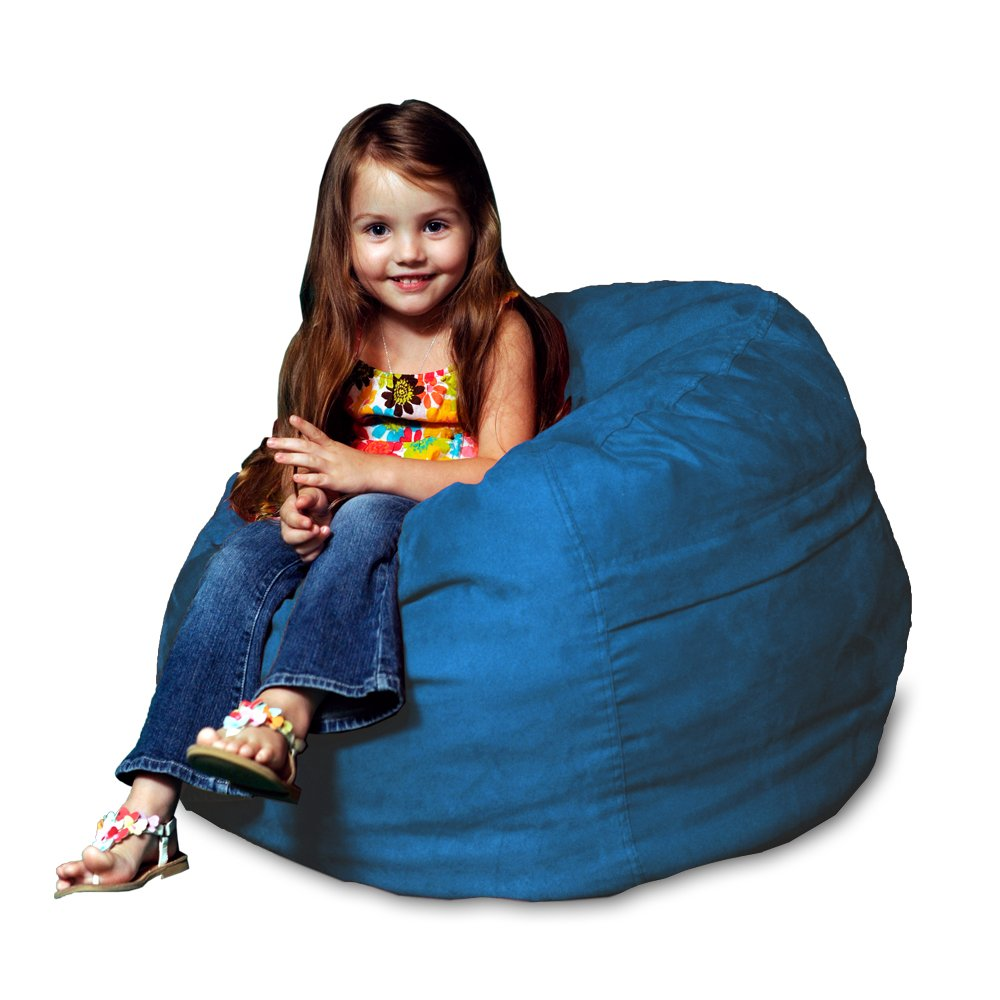 Chill Sack Bean Bag Chair: Large 2' Memory Foam Furniture Bean Bag - Big Sofa with Soft Micro Fiber Cover - Royal Blue