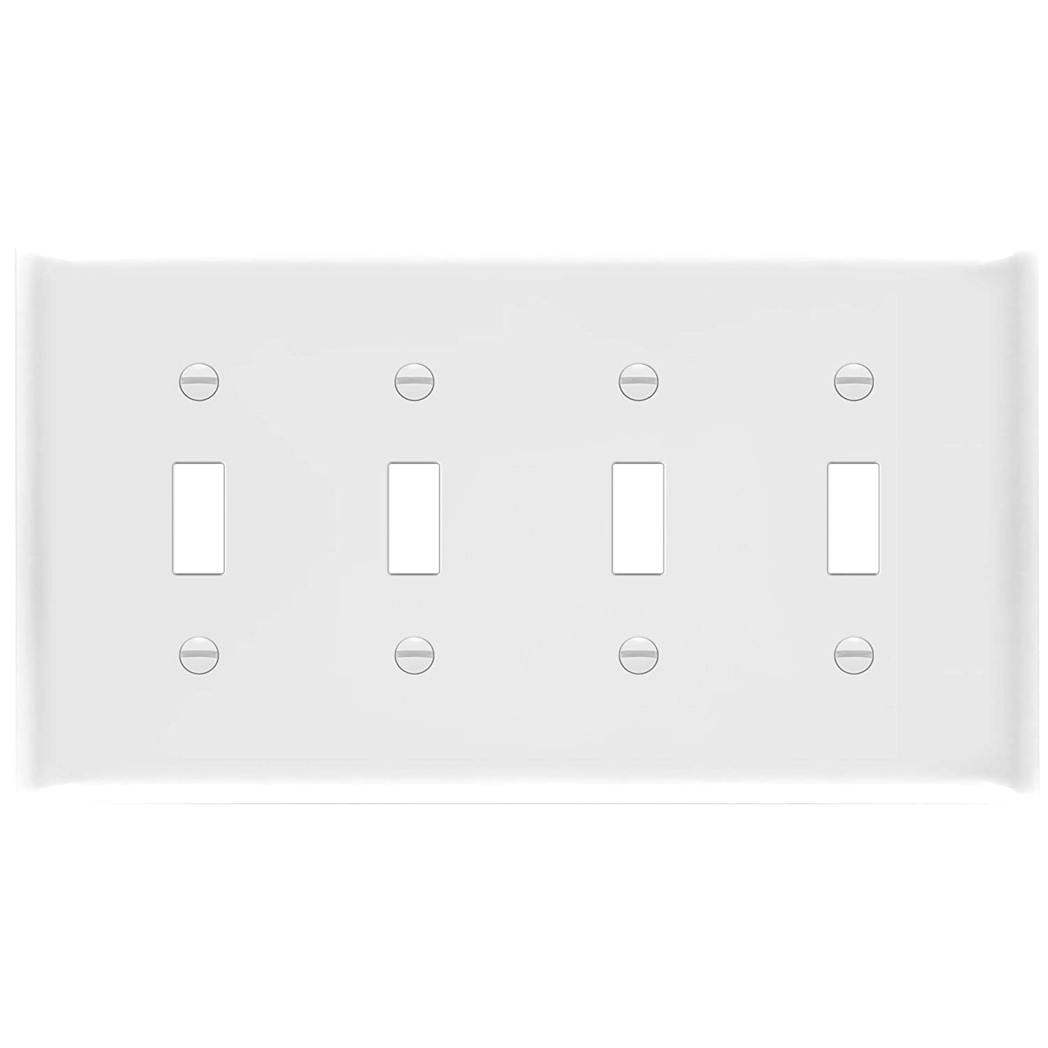Ul Listed 4 Gang 4 88 X 8 58 Ivory Unbreakable Polycarbonate Thermoplastic Enerlites Toggle Light Switch Wall Plate 8814m I Mid Size Tools Home Improvement Electrical