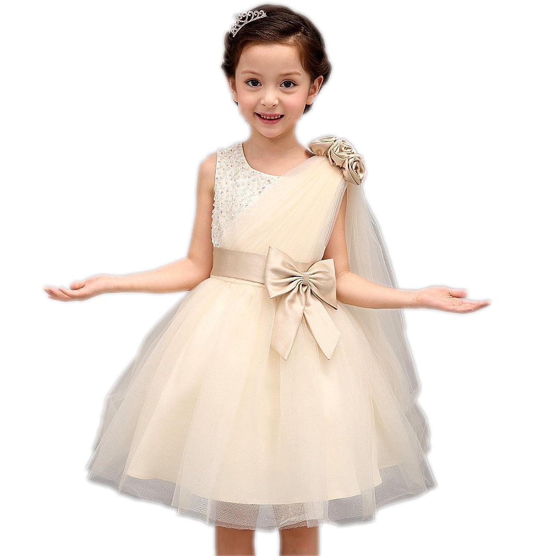 Meibida flower Girl Dresses Formal Wedding Bridesmaid Party Christening Princess Dresses: Amazon.co.uk: Clothing