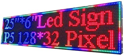16*128 LED Display Board Message Scrolling Programmable RED