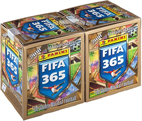 2017 Panini FIFA 365 2018 soccer stickers 2 sealed box (100 packs - 500 stickers) (And 1 Cards Sticker)